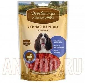 Деревенские лакомства  Традиционные для собак 100% Мяса Утиная нарезка сушеная