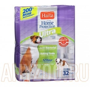 Купить Hartz Ultra Training Pads Пеленки Ультра впитывающие для щенков и собак, 54*54см