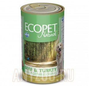 Ecopet Natural Bicolore Beef & Turkey & Vegetables