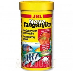 фото JBL NovoTanganjika Хлопья из рыбы и планктонных животных для хищных цихлид из озер Малави и Таньгаик