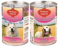 фото Родные корма Консервы для собак Птица с потрошками в желе по Московски
