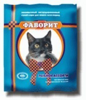 Фаворит Комбикорм для кошек Рыбное ассорти