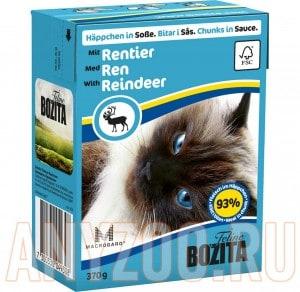 Купить Bozita Tetra Pak кон.д/кошек Кусочки в соусе с Оленем
