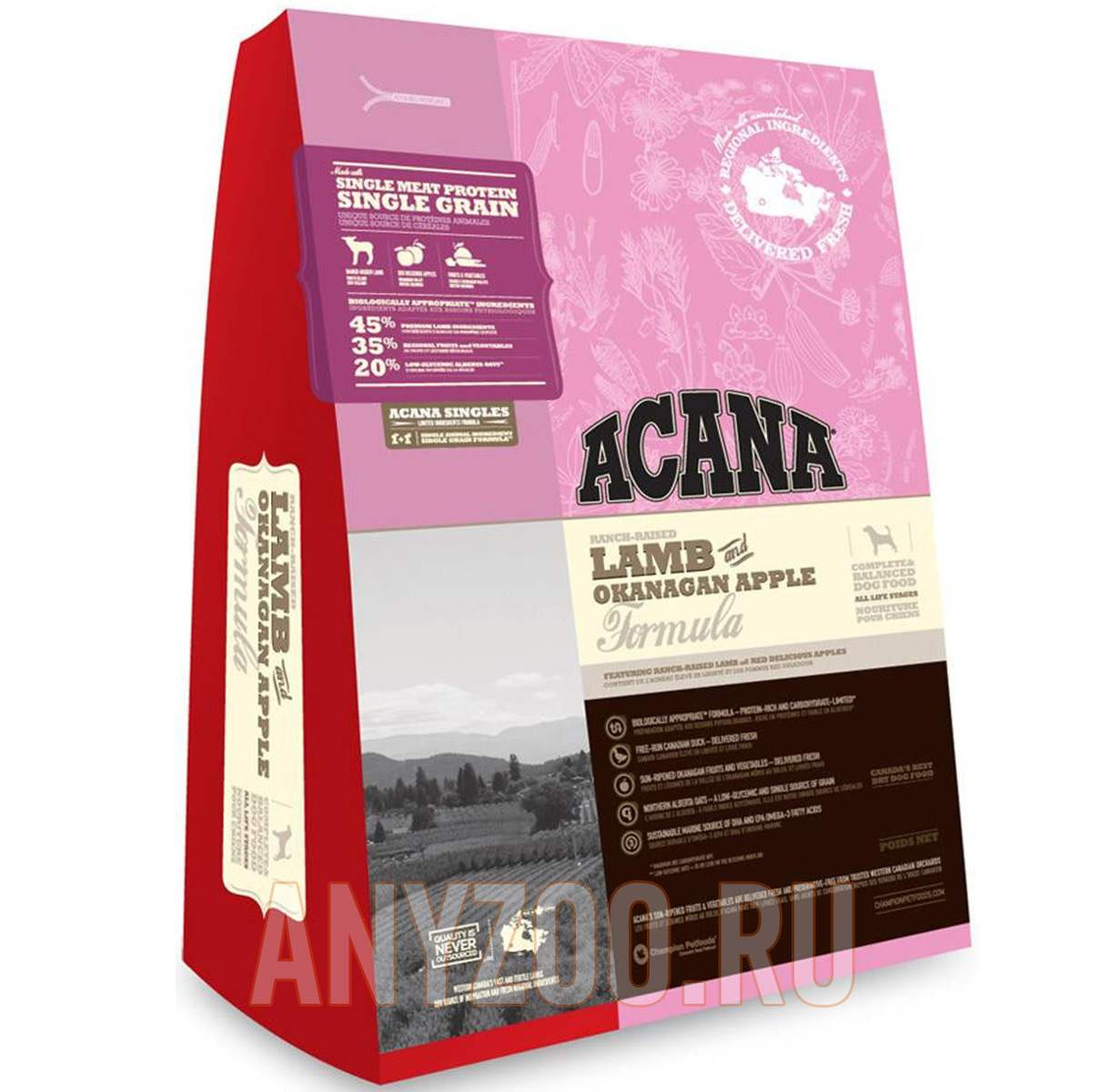 Фото товара Acana Lamb & Okanagan Apple Formula - Акана Сухой корм для собак Ягненок и яблоко (Беззерновой)