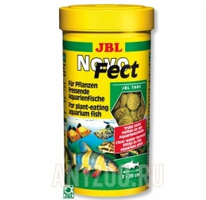 фото JBL NovoFect Корм в форме таблеток для растительноядных рыб
