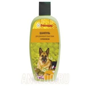 Пчелодар шампунь с прополисом для длинношерстных собак