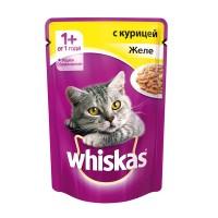 фото Whiskas - Вискас пауч для кошек Желе с курицей