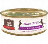фото Best Dinner Меню №18 консервированный корм для собак телятина с овощами