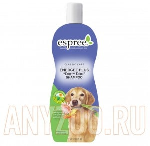 фото Espree Energee Plus Ditry Dog Shampoo Эспри Ароматный гранат шампунь для собак и кошек с сильнозагрязненной шерстью