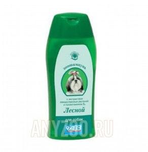 АВЗ Лесной Шампунь для собак на травах увлажняющий, от сухости кожи
