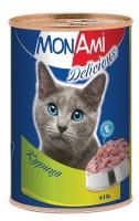 МонАми Пауч для кошек нежные кусочки в соусе Курица