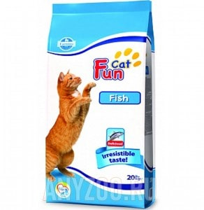 фото Farmina Fun Cat Fish Adult сухой корм для взрослых кошек с рыбой