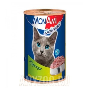 МонАми Delicious Консервы для кошек Паштет из цыпленка