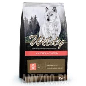 фото Wildy Вилди сухой корм для взрослых собак Мясное ассорти