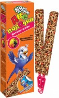 Зоомир Веселый попугай Две палочки для волнистых попугаев Фрукты+ягоды