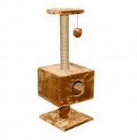 Дарелл 8108 Домик-когтеточка  квадратный на подставке