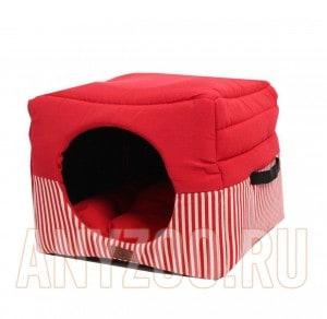 Lion Кубик - трансформер для животных  LM4030-018 красный в полоску