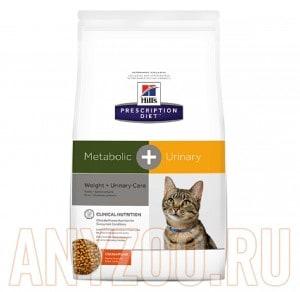 Купить Hills Metabolic+Urinary Хиллс Сухой корм для коррекции веса+урология для кошек