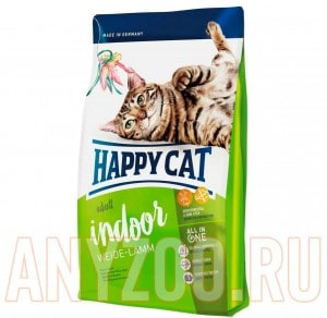 фото Happy Cat Adult Indoor Сухой корм для домашних кошек Пастбищный ягненок