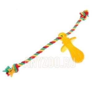 Доглайк игрушка для собак Соска с канатом