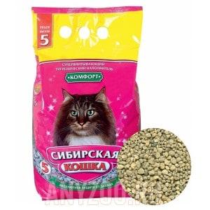 Сибирская Кошка Комфорт впитывающий наполнитель для кошек
