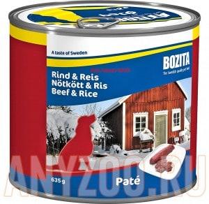 Купить Bozita  консервы для собак с Говядина с рисом