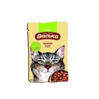 Васька пауч для кошек Кролик кусочки в желе
