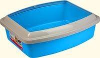 фото Savic туалет для кошек Oval tray medium c бортом 42*32*9,5см