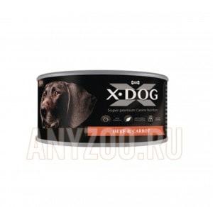 фото X-Dog Икс-Дог Консервы для собак Говядина с морковью