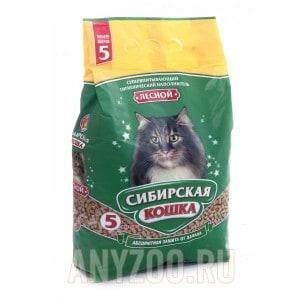 Сибирская Кошка Лесной древесный наполнитель для кошек