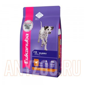 Eukanuba Dog Puppy & Junior  rich in Lamb & Rice