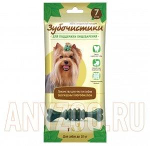 фото Зубочистики Мятные с хлорофиллом для собак мелких пород