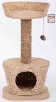 Triol Комплекс для кошек из камыша и джута, 40*40*77 см