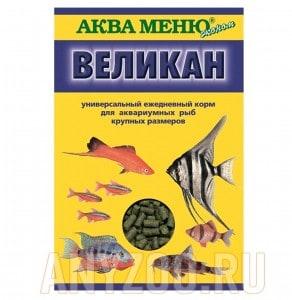 Аква Меню Великан ежедневный корм для крупных аквариумных рыб