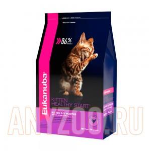Купить Eukanuba Kitten Экануба сухой корм для котят от 1 до 12 месяцев с домашней птицей