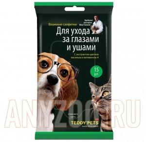 фото Teddy Pets Тедди Петс Влажные салфетки для ухода за глазами и ушами