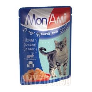 МонАми Пауч для кошек кусочки в соусе Кролик