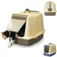 фото Savic Sphinx Туалет для кошек закрытый c дверцей,ячейкой для сменного фильтра и совком