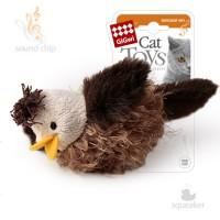 фото GiGwi 75223 Игрущка для кошек Птичка со звуковым чипом