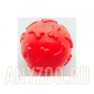 Грызлик игрушка для собак Мяч с косточками 6,5см