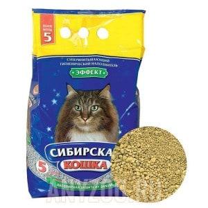 Сибирская Кошка Эффект впитывающий наполнитель для кошек
