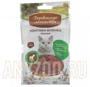 Деревенские лакомства для кошек Ломтики ягненка нежные