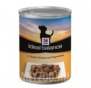 Купить Hills Ideal Balance Хиллс Беззерновой консервированный корм для собак Курица/овощи