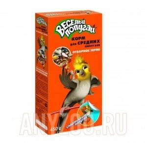 Зоомир Веселый попугай корм для средних попугаев Отборное зерно
