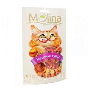 фото Molina Молина Лакомство для кошек Кусочки тунца