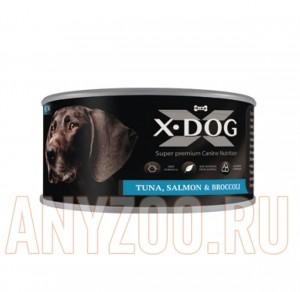 фото X-Dog Икс-Дог Консервы для собак  тунец с лососем и брокколи