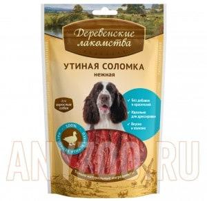 Деревенские лакомства для собак Утиная соломка нежная
