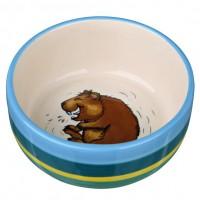 Trixie 60802 Миска керамическая для морских свинок, разноцветная/кремовая