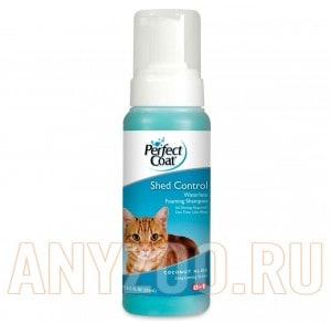 Купить 8 in 1 Perfect Coat Шампунь-пенка для укрепления шерсти кошек