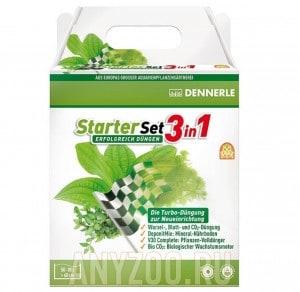 Dennerle Starter Set 3in1 Стартовый набор для ухода за растениями для аквариумов длинной до 60см